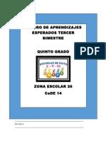 APRENDIZAJES ESPERADOS 5º