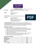 International Business Fall 2015 Syllabus