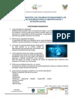 Practica 1 - Cuestionario Diagnostico