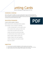 counting cards activity plan