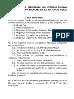 Reglamento Del Comité Electoral Para Las Elecciones Del Concejo Escolar Del Municipio Escolar