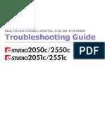 E-Studio 2550c - Troubleshooting Guide