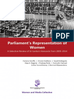 Parliament Representation of Women