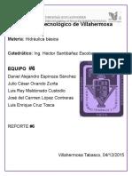 Hidraulica Basica - Reporte #6
