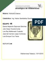 Hidraulica Basica - Reporte #4