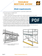 Scaffold Requirements