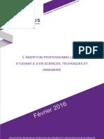 Contribution Sur l'Insertion Professionnelle Des Étudiants en Sciences Techniques Et Ingénierie