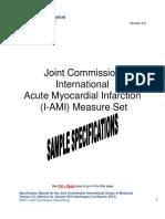 JCI I-AMI-1 ASA on Arrival Specifications SAMPLE 2012