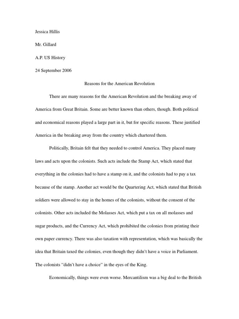 Ap us history essay american revolution 3 2k views