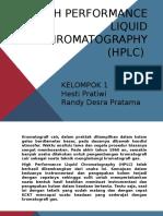 High Pressure Liquid Chromatography (HPLC)