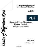 Rural-to-Urban Migration, Human Capital, and Agglomeration