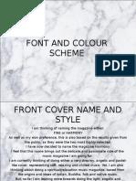 font and colour scheme