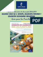 GUÍA FAMILIAS PROCESO DE ADMISIÓN CURSO 2016/17
