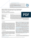 Spatial mediation and moderated effect on FDI performance: Empirical study of Taiwanese fi
