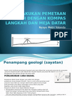 Melakukan Pemetaan Geologi Dengan Kompas Langkah Dan Meja(Metri Yolanda)