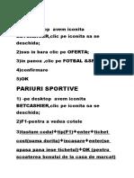 OFERTA Pariuri