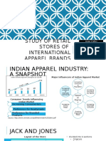 Retail store study of foreign apparel brands in India