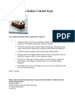 Kue Brownies Kukus Cokelat Keju