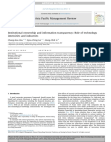 Institutional ownership and information transparency: Role of technology intensities and i