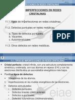 11. Imperfecciones en Redes Cristalinas 12-13