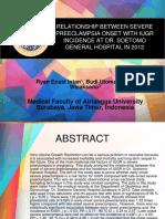 Jurnal Hubungan Onset Preeklampsia dengan kejadian IUGR di RSUD DR. SOETOMO tahun 2012