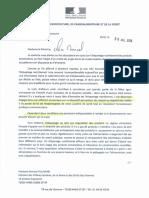 Lettre Le Foll m. Touraine