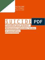 2e Rapport de l'Observatoire National Du Suicide