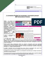 La senatrice Puglisi ha incontrato i ricercatori precari dell'Università di Urbino - Pu24.it, 2 febbraio 2016