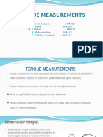 Torque Measurements Metrology