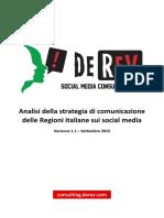 Analisi Della Strategia Di Comunicazione Delle Regioni Italiane Sui Social Media