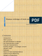 Human Redesign of Work Systems
