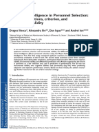 emotional intelligence and job satisfaction psychology essay In recent years there has been an increased interest in the role of emotional intelligence in both the academic success of students and their emotional adjustment in.