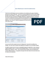 Value Set Maintenance Control Considerations