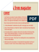 feedback from magazine cover