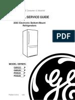GE Refrigerator Service Manual 31 9112