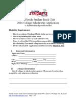 2016 FSTC ScholarshipApplication