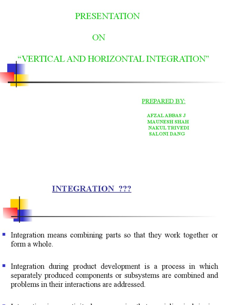 horizontal and vertical integration in hrm
