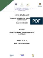C1-Modul 2 - Cap 2 - Editarea Unui Text - Word