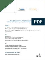 Accord de Coopération Etat-Prismemploi-UNML en faveur de l'emploi des Jeunes