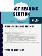 act reading section ppt1