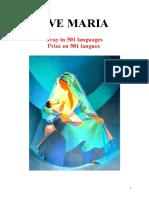 Marie de Nazareth Ave Maria Prays in 501 Langues Priez en 501 Langues (Padre Anic)