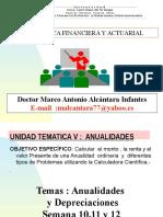 UIGV Virtual Matematica Finan y Actu UNIDAD v Sem 10 Y 11 Anualidades Con Solu