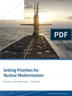 Setting Priorities for Nuclear Modernization