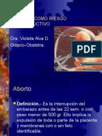 Aborto Como Riesgo Reproductivo
