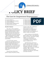 A1P Issue No 1 - The Case for Congressional Empowerment