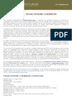 CFP - Francophone Caribbean Literature