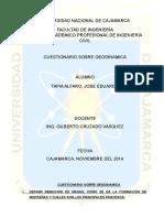Cuestionario procesos geodinamicos