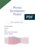 STUDY & CONSTRUCTION OF BURGLAR ALARM