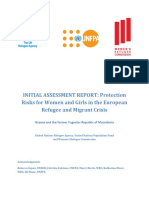 Protection risks for women and girls in the European refugee and migrant crisis