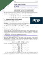 Resumen Del Tema Derivación de Funciones de Varias Variables